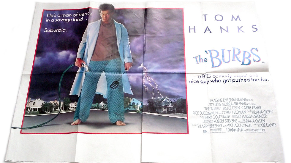 The Burbs British Quad Film Poster 1989