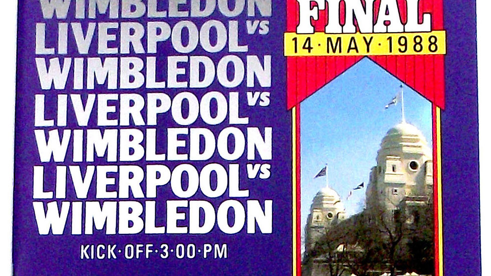 Liverpool F.C. v AFC Wimbledon FA Cup Final Football Programme 1988