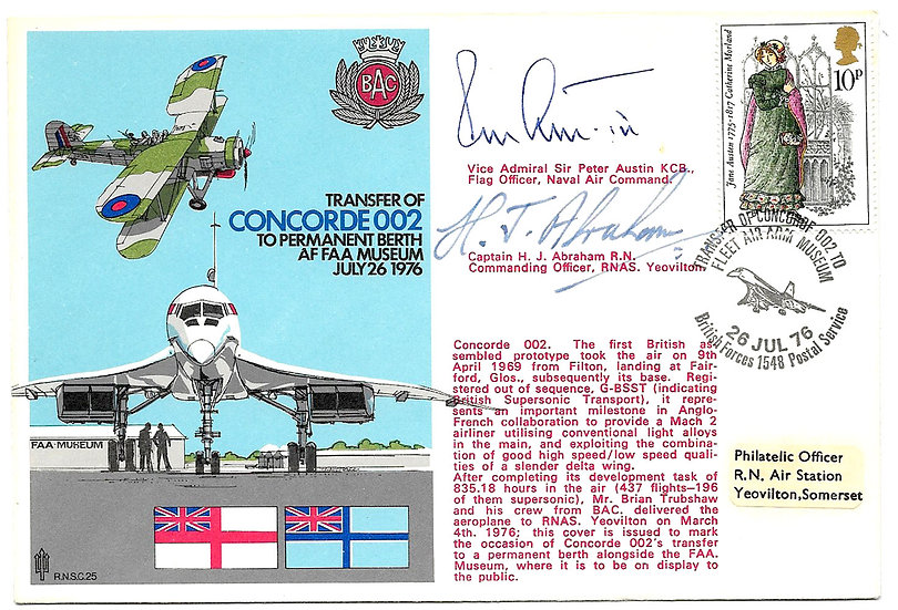 Collection 7 Signed Aviation Covers To Include a Signed Concorde Cover