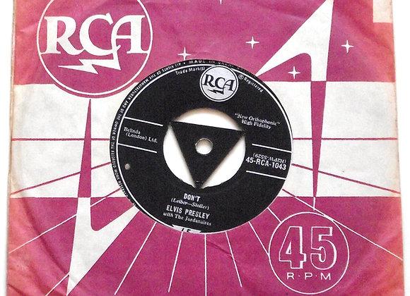 Elvis Presley Don't/I Beg Of You 45-RCA 1043 1958