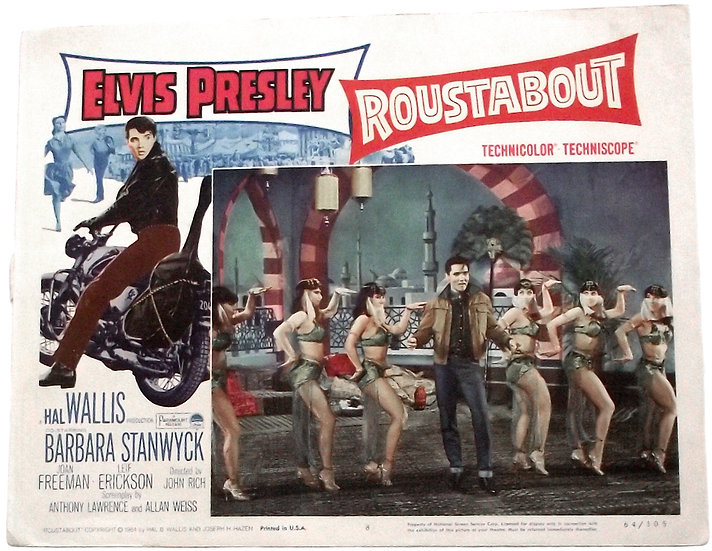 Elvis Presley Roustabout U.S. Lobby Cards 1964