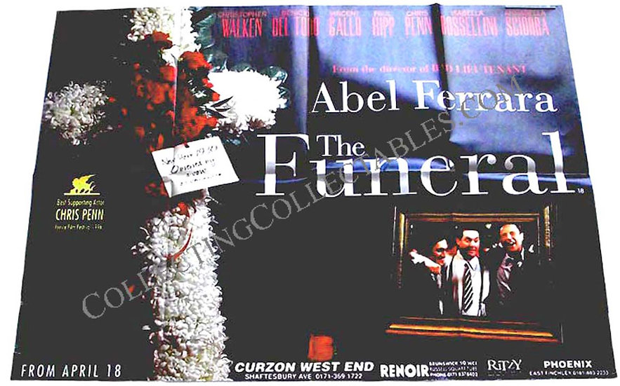 The Funeral British Quad Film Poster 1996