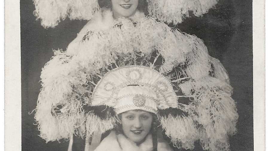 Rare Dolly and Billie Burke Postcard Photograph Signed by Billie Burke