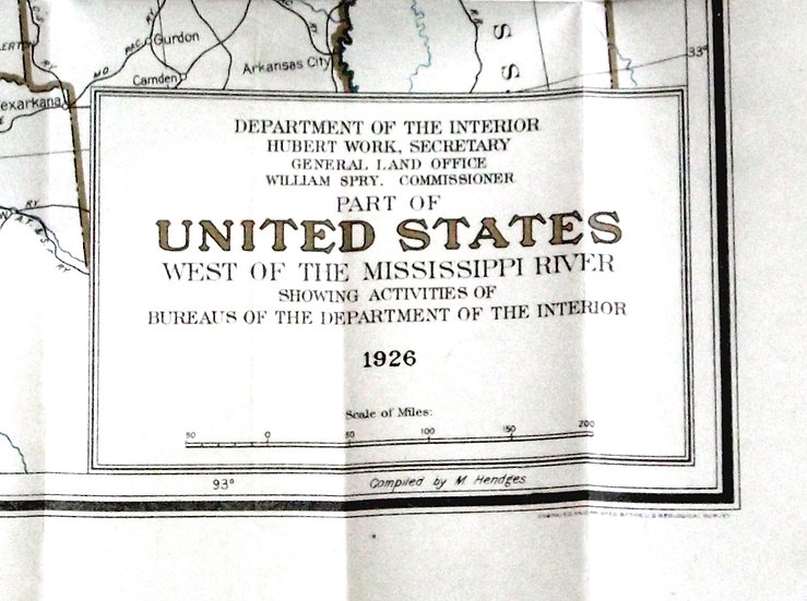 Map West of the Mississippi River 1926