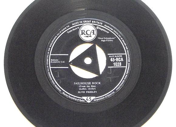 Elvis Presley Jailhouse Rock 45-RCA 1028 Single 1958