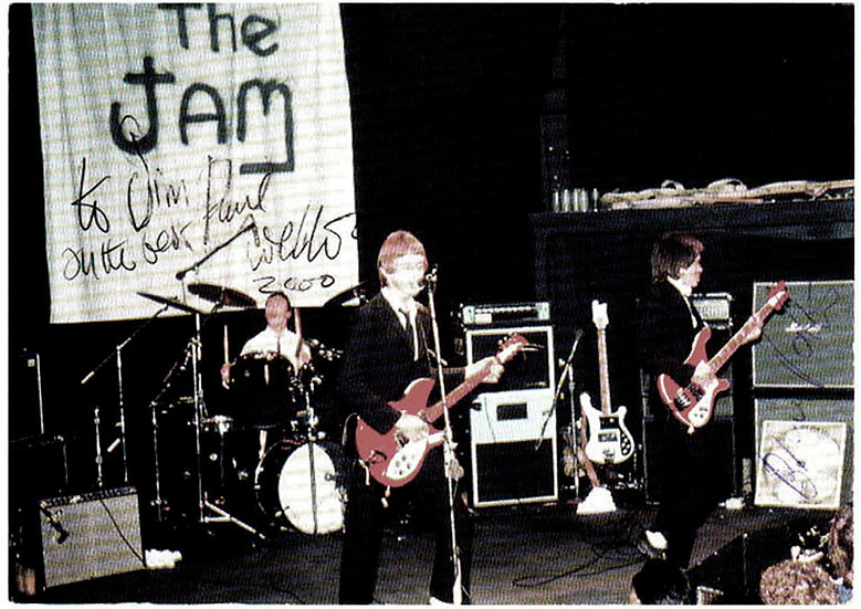 The Jam Signed In Concert Postcard 2000