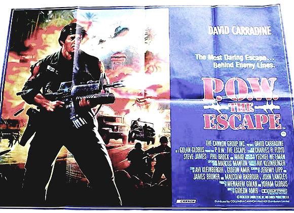 P.O.W. The Escape British Quad Film Poster 1986