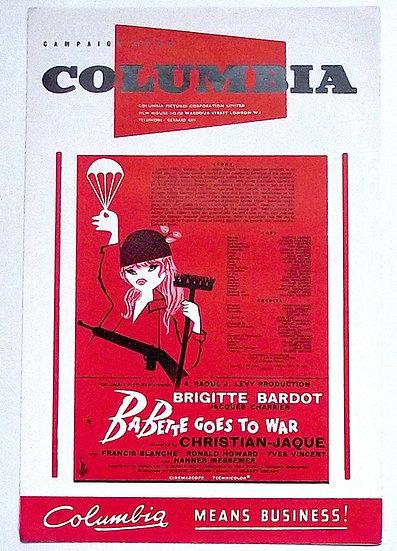 Brigitte Bardot Babette Goes To War Campaign Book 1959