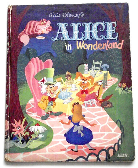 Walt Disney Alice In Wonderland First Edition Book 1951