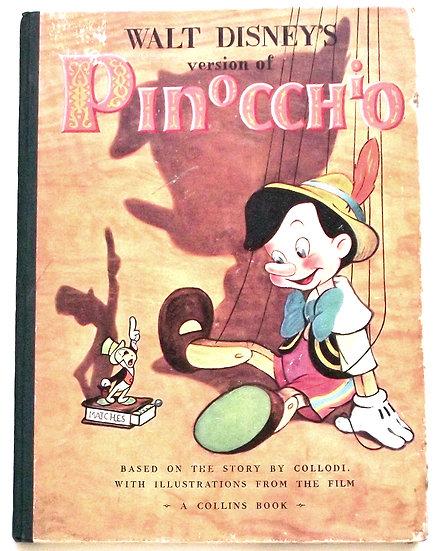 Walt Disney's Pinocchio First Edition Book 1940