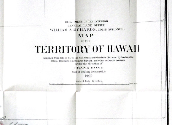 Map of the Territory of Hawaii 1905