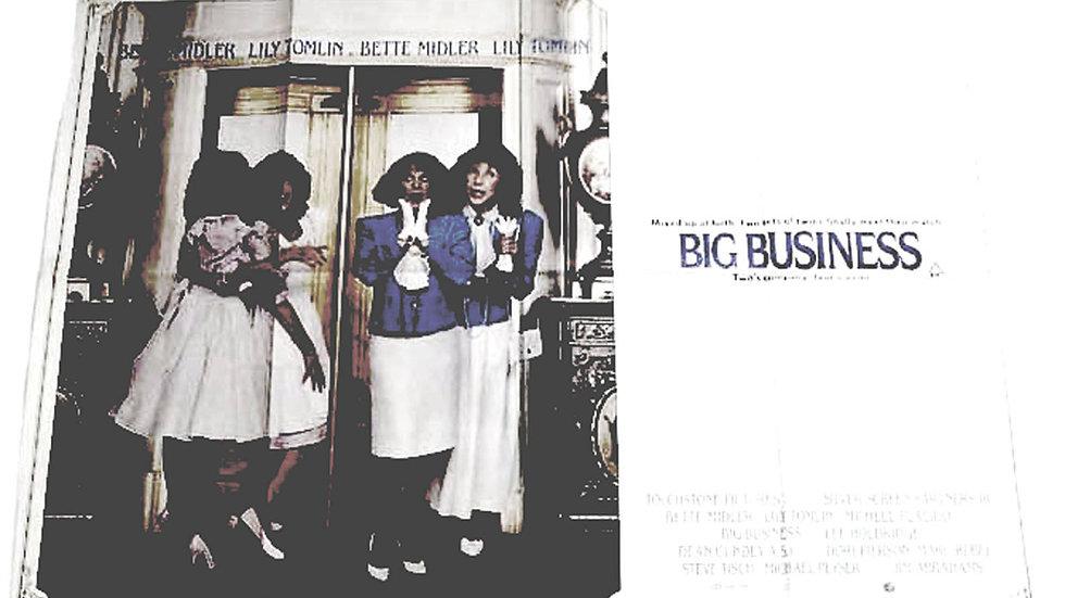 Bette Midler Big Business British Quad Film Poster 1988