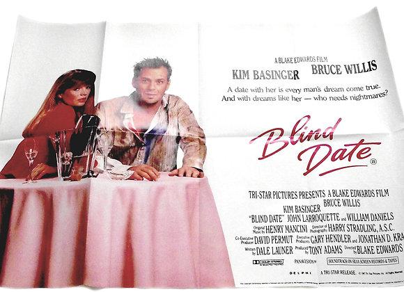 Bruce Willis Blind Date Film Poster 1987