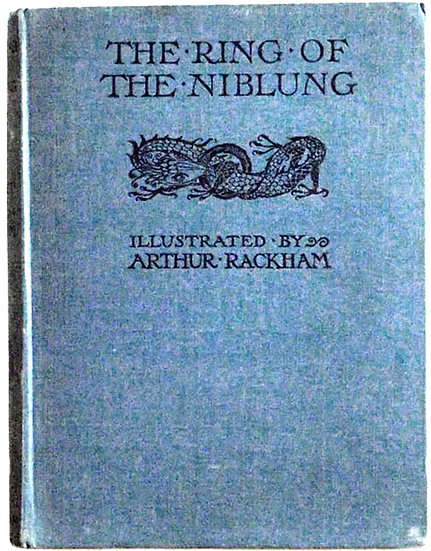 Arthur Rackham The Ring of the Niblung  A Trilogy First Edition Book 1939 Front Board