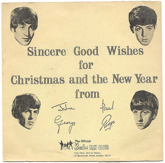 The Beatles First Christmas Flexi Disc and Original Sleeve 1963