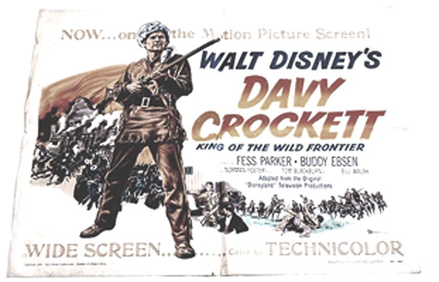 Walt Disney Davy Crockett U.S. One Sheet Poster 1955
