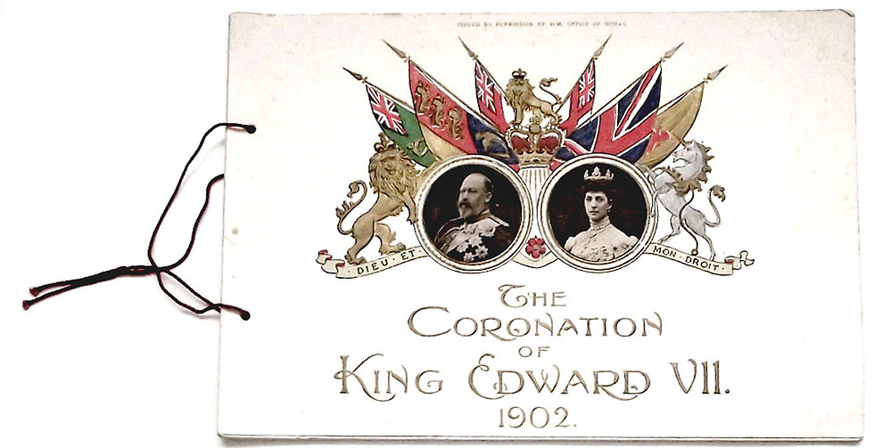 King Edward VII Rare Coronation Programme 1902