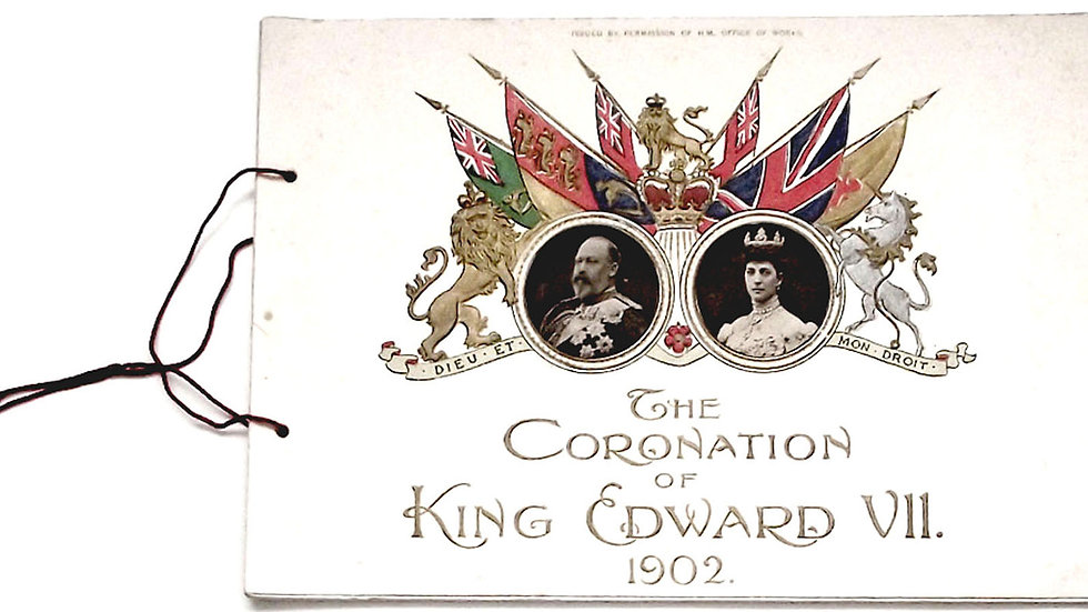 King Edward VII Rare Coronation Programme 1902