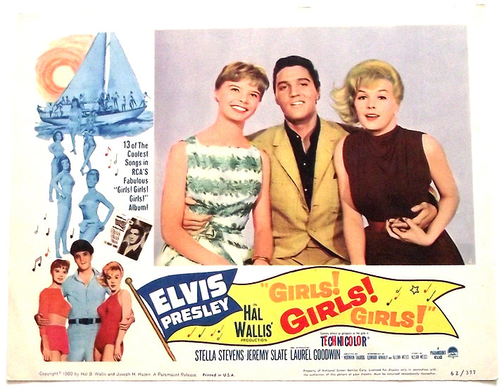 Elvis Presley Girls! Girls! Girls! U.S. Lobby Cards 1962