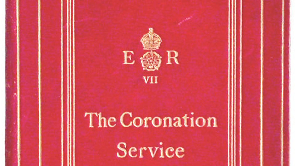 King Edward VII Coronation Service Programme 1902
