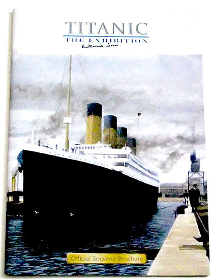 Titanic The Exhibition Brochure Autographed by Millvina Dean