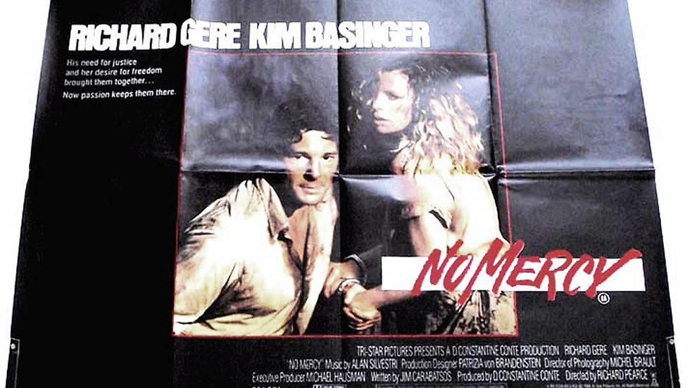 Richard Gere & Kim Basinger No Mercy British Quad Film Poster 1986