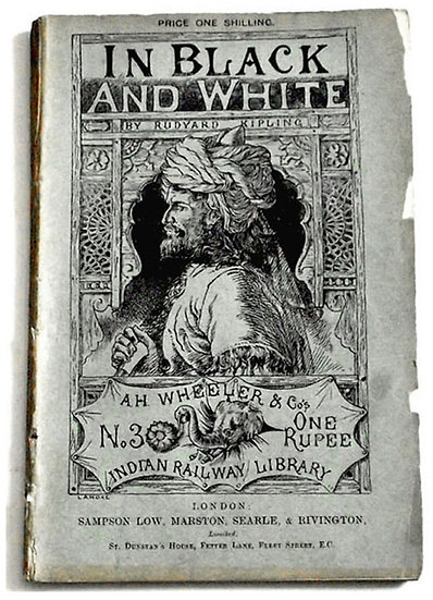 Rudyard Kipling In Black and White UK First Edition 1888