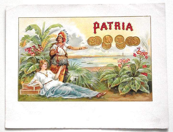 Patria Cigar Box Label