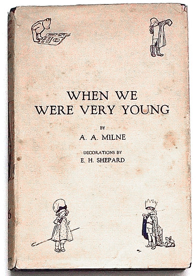 A.A. Milne When We Were Very Young 1925 Dust Jacket