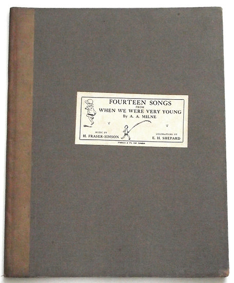 Fourteen Songs From When We Were Very Young Fifth Edition 1925