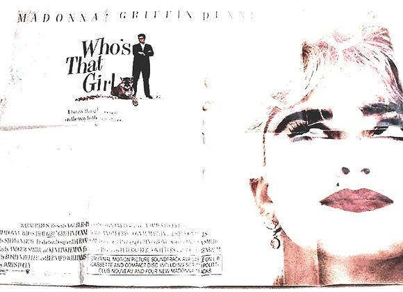 Who's That Girl 1987 Madonna British Quad Film Poster