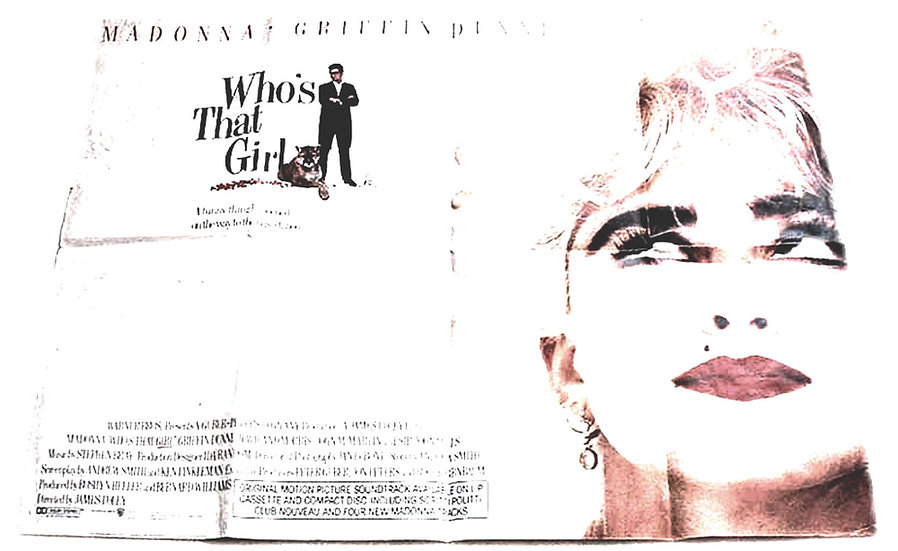 Who's That Girl 1987 Madonna Film Poster