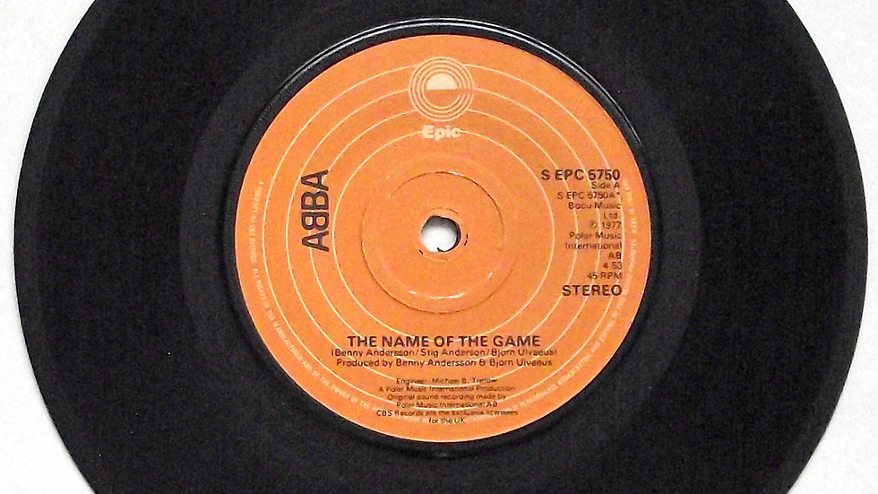 ABBA The Name of the Game Single Epic S EPC 5750A 1977