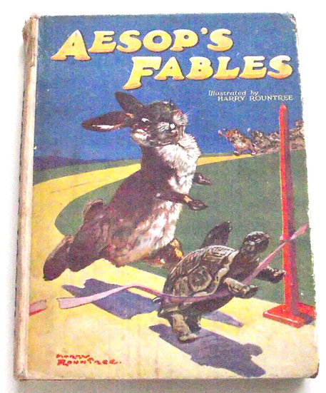 Aesop's Fables Illustrated by Harry Rountree circa 1940