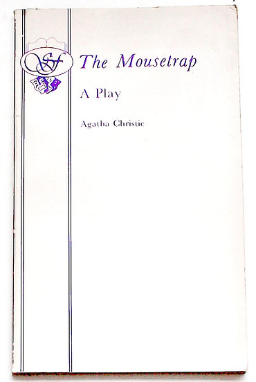 Agatha Christie The Mousetrap A Play In Two Acts First Edition 1954