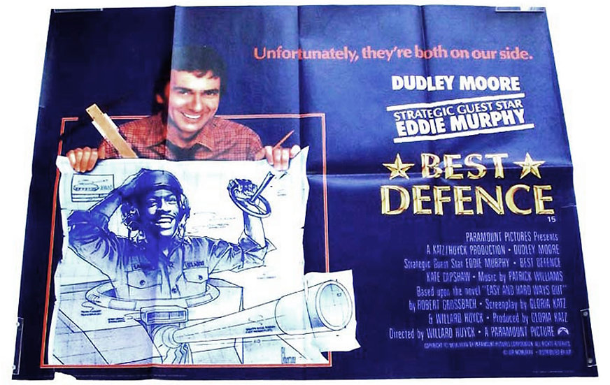 Best Defence British Quad Film Poster 1984