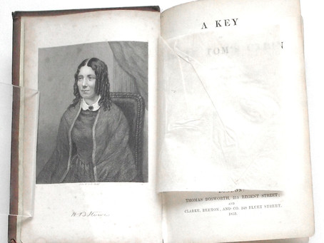 Rare Harriet Beecher Stowe The Key To Uncle Tom's Cabin First Edition in the Original Cloth 1853