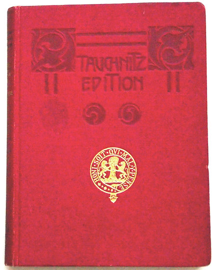Oscar Wilde A Woman Of No Importance Tauchnitz Copyright Edition 1909