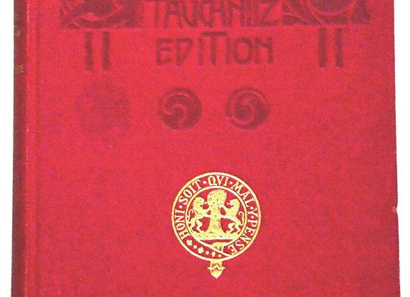 Oscar Wilde A Woman Of No Importance Tauchnitz Copyright Edition 1909