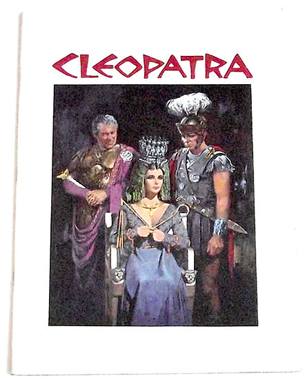 Cleopatra Film Programme 1963 Starring Elizabeth Taylor and Richard Burton