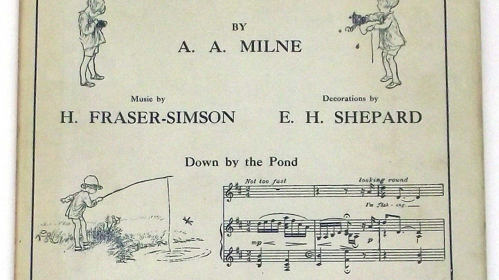A.A. Milne Songs From Now We Are Six Winnie the Pooh Book 1927