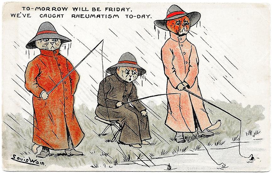 Louis Wain Cats Postcard circa 1907