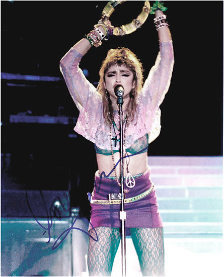 Madonna In Concert Signed Photograph