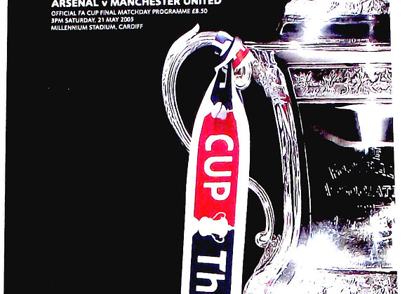 Arsenal F.C. v Manchester United F.C. FA Cup Final Football Programme 2005