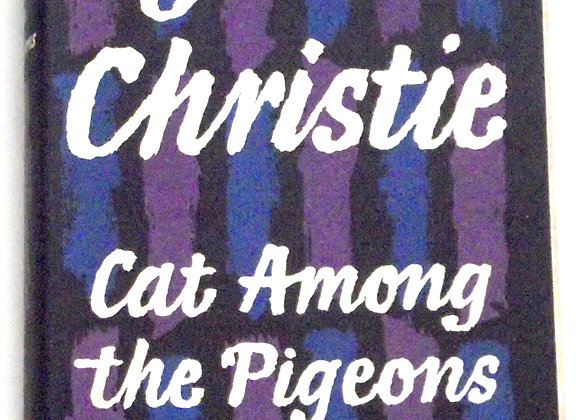 Agatha Christie Cat Among The Pigeons First Edition Hercule Poirot Book 1959