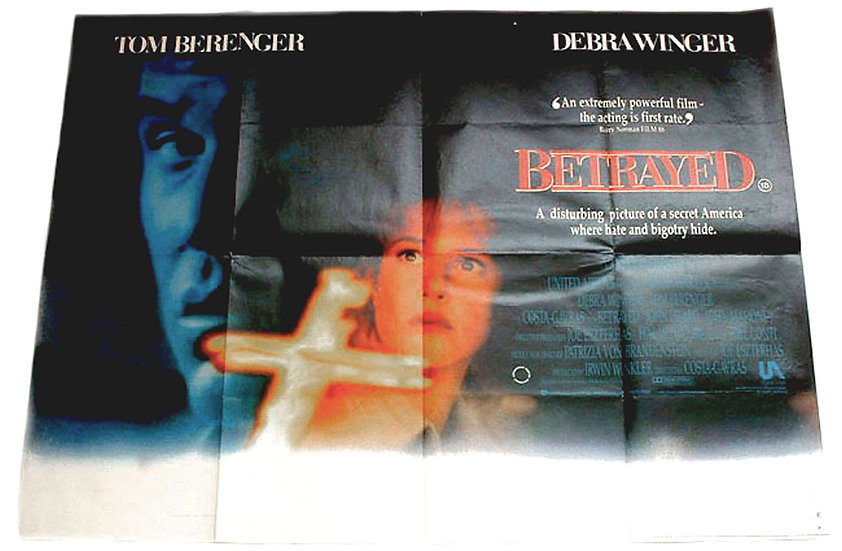 Debra Winger & Tom Berenger Betrayed British Quad Film Poster 1989
