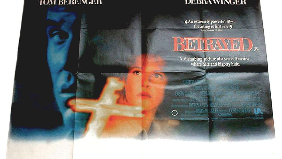 Debra Winger & Tom Berenger Betrayed British Quad Film Poster 1989