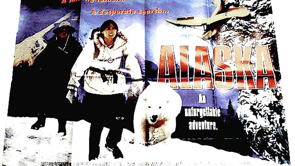 Charlton Heston & Dirk Benedict Alaska British Quad Film Poster 1996