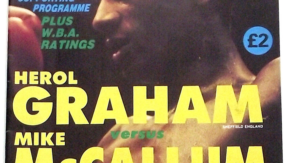 Herol Graham v Mike McCallum Boxing Programme 1989
