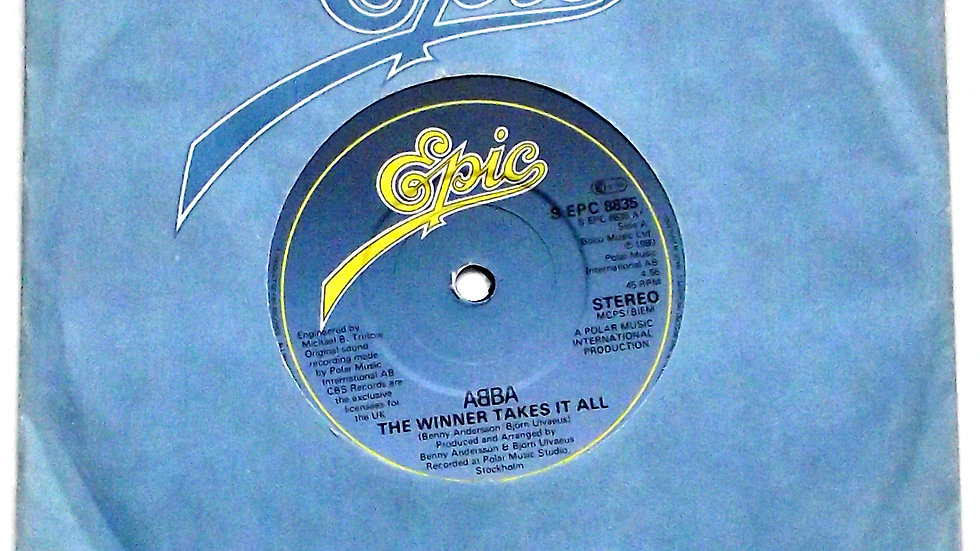 ABBA The Winner Takes It All Single Epic S EPC 8835 A 1980